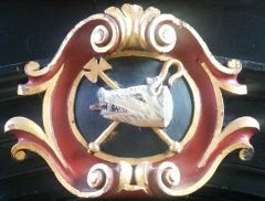 Photo of Boar's Head badge in Old Hall