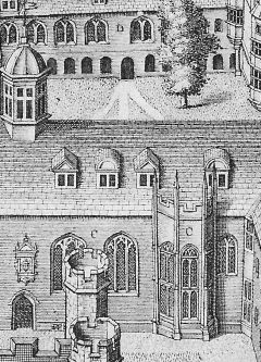 Detail of Hall from Loggan's View