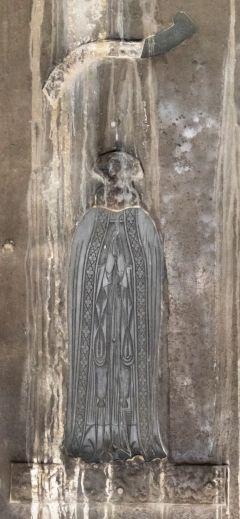 Photo: monumental brass of a priest