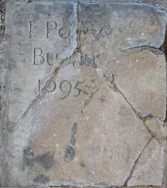 Stone inscribed Poley