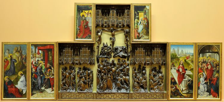 Photo of altarpiece at Bowes Museum
