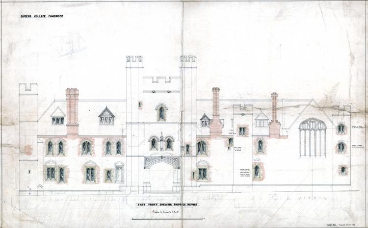 East frontage 1874 proposed