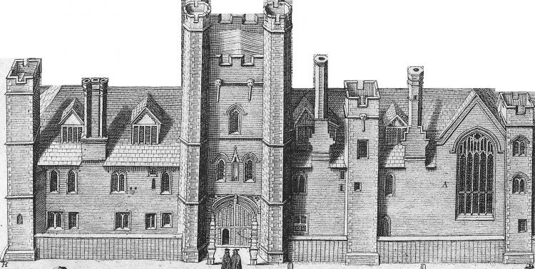 East frontage 1685, by Loggan