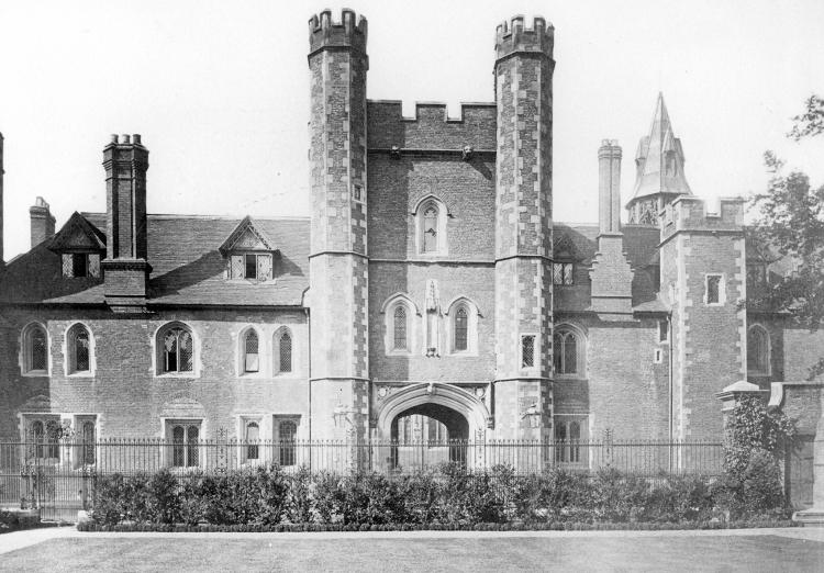 East frontage 1880s