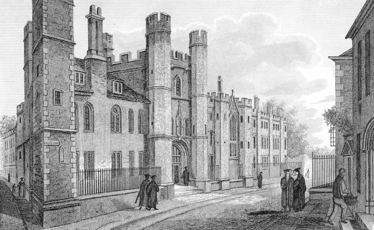 Queens' frontage 1824