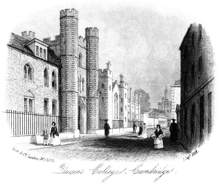 Queens' Lane frontage of Queens' College 1854 Sept 1