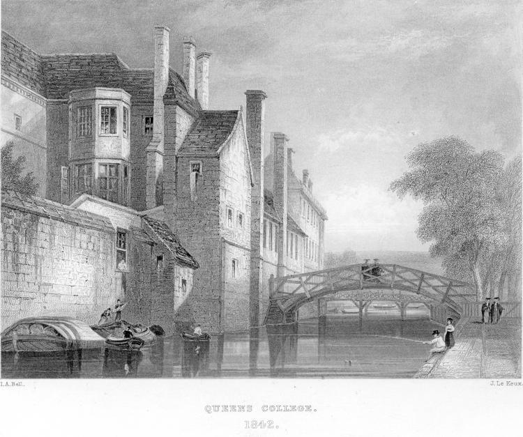 Bridges and riverside - Le Keux 1842