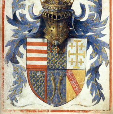 Arms of René d'Anjou from MS Egerton 1070
