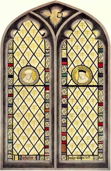Carmelite stained glass
