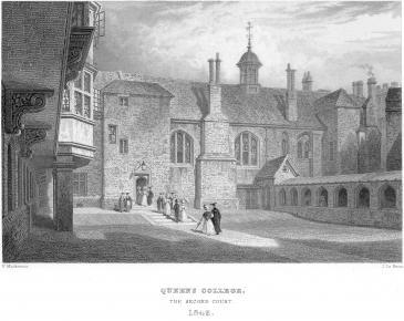 Cloister Court by Le Keux 1842