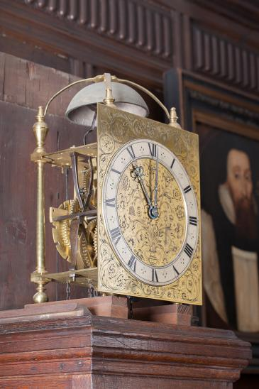 Edward East clock 1664 case removed