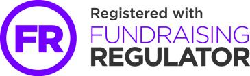 Registered with Fundraising Regulator button.