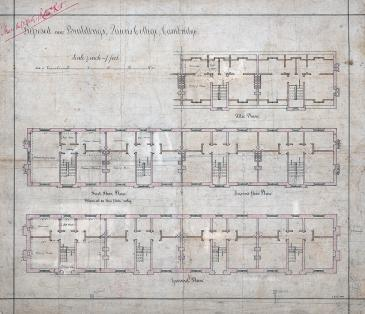 Friars' Building contract drawing 1885