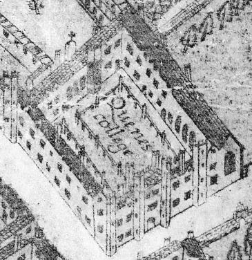 Old Court - detail from Hamond view 1592
