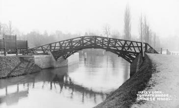 Photo of Iffley Lock footbridge 1924