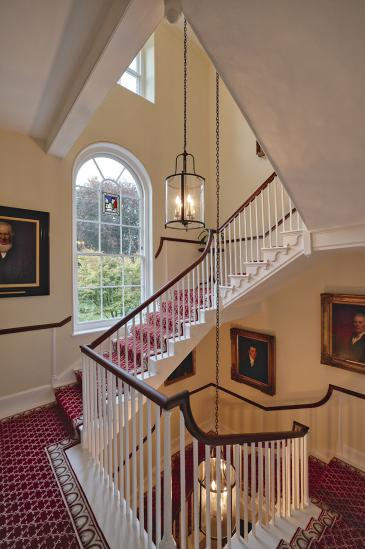 Photo of interior of Lodge staircase