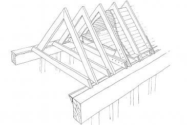 Long Gallery rafter repair