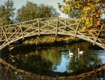 Photo of Winchester College Mathematical Bridge