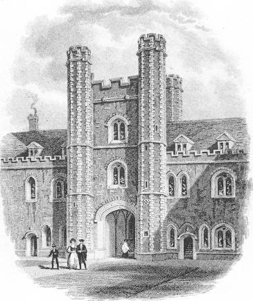 Old Court Gatehouse - Storer 1837
