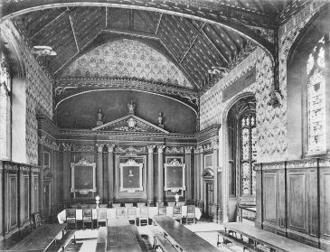 Photo of Hall before installation of electric lighting