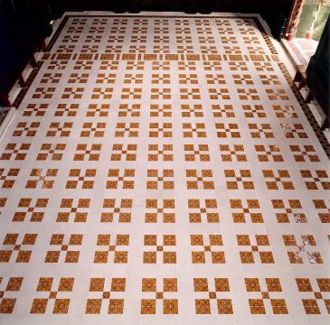 Old Hall floor after 2003 restoration