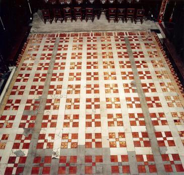 Old Hall floor before 2003 restoration