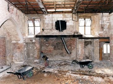 Old Kitchens south fireplace before refit