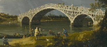 Old Walton Bridge, Canaletto, 1754