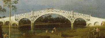 Old Walton Bridge, Canaletto, 1755