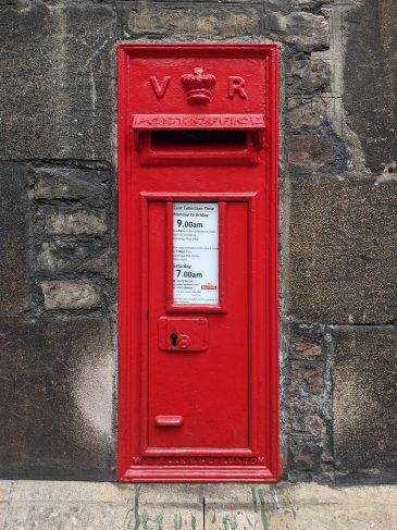 Photo of Post Office wall-box at Queens' College Cambridge