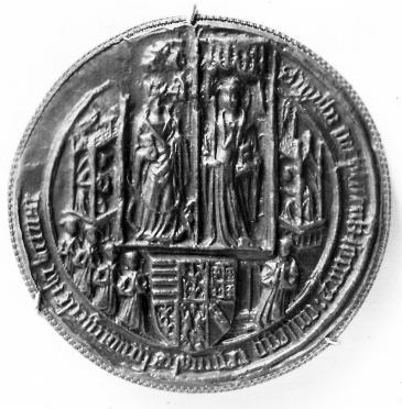 Queens' College seal 1448 photo