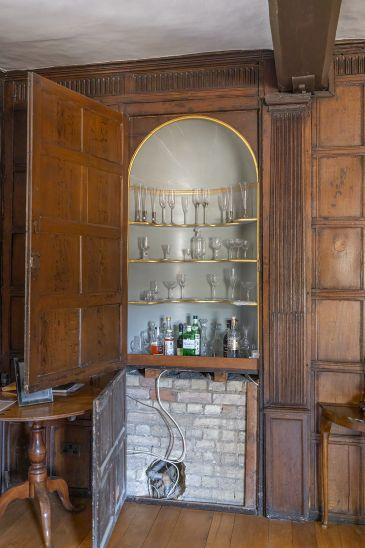 Photo of cabinet formed from blocked doorway