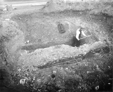 Photo of wall foundations 1932 B