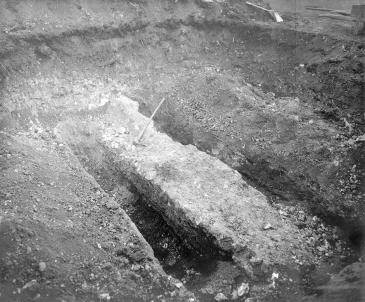 Photo of wall foundations 1932
