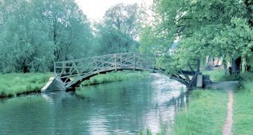 Photo of Winchester bridge 1976