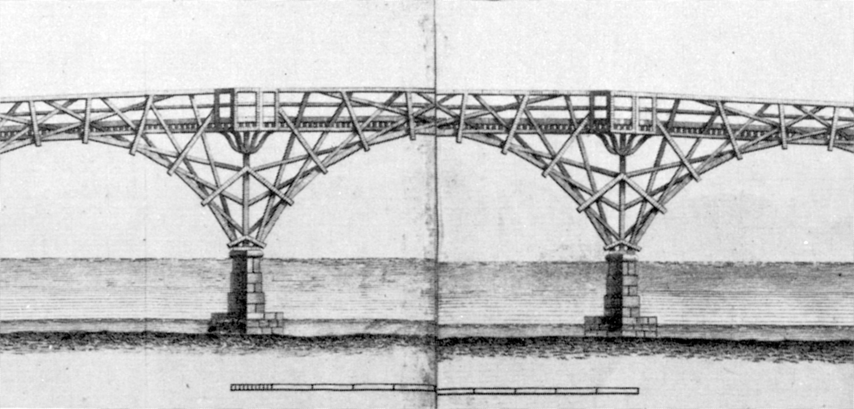 Mathematical Bridge Queens College Truss Diagram Elevation Save Westminster