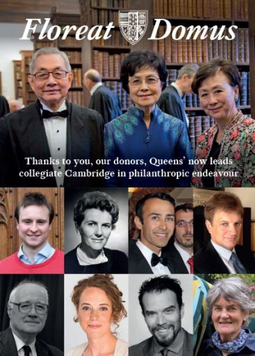 Frotn cover, with photos of donors