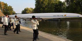 Photo of the Marcus Hughes-Hallett boat-naming ceremony, Oct 2021